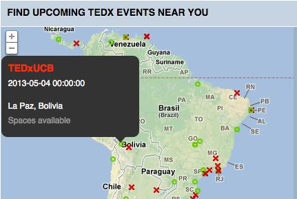 Imagen capturada de la página principal de TED